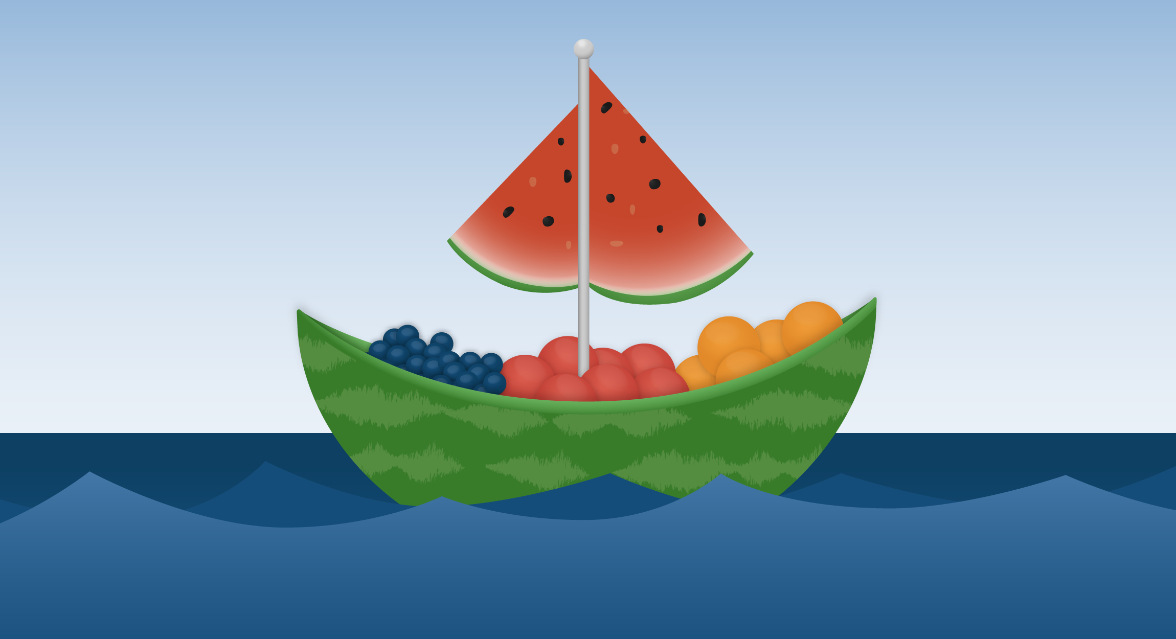 Fruit Sailboat
